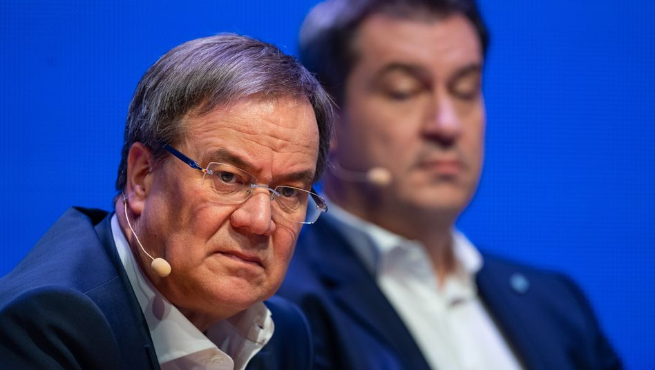 Ministerpräsidenten Armin Laschet, Markus Söder: Angriffe im Tagesrhythmus