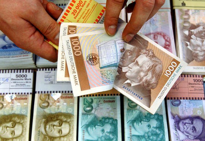 Die D-Mark: Trotz Euro-Krise keine klare Mehrheit für eine Rückkehr zur alten Währung