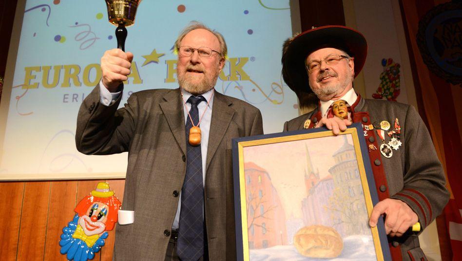 """Wolfgang Thierse (links) in Rust: """"Da komme ich gerne auch mal in eine unernste Sitzung"""""""