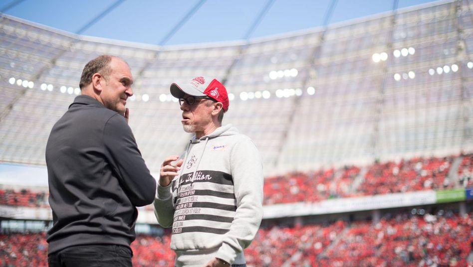 Manager Schmadtke (l.) und Trainer Stöger
