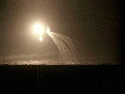Kämpfe im Irak: Diese Bilder des italienischen Senders RAI 24 sollen den Einsatz weißen Phosphors zeigen