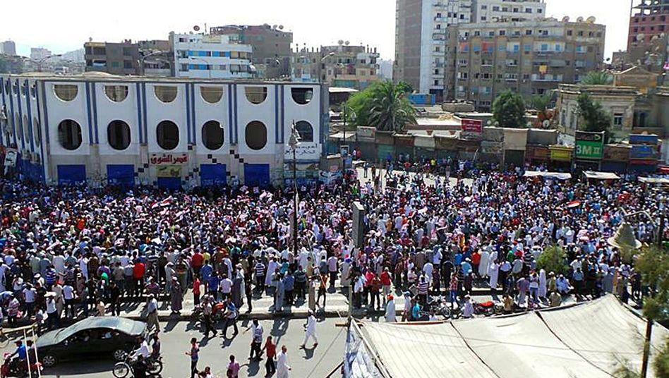 Proteste in Suez im August 2013: Ein Angeklagter muss lebenslang hinter Gitter