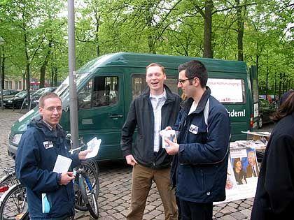 Mobile Proteststation: Die Gebührengegner und ihr Bus