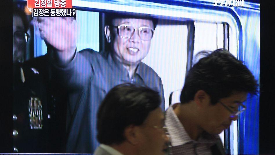 Fernsehbild von Kim Jong Il im Zug: Angebliche Reise nach China