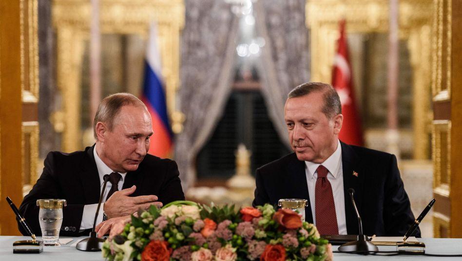Wladimir Putin und Recep Tayyip Erdogan (2016)