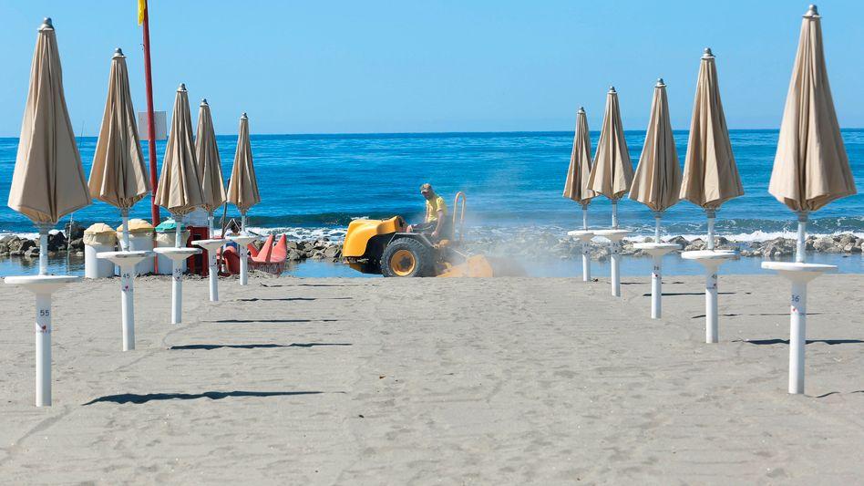 Strand bei Rom