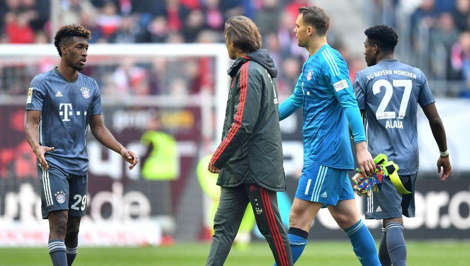 Manuel Neuer musste in der 53. Minute ausgewechselt werden