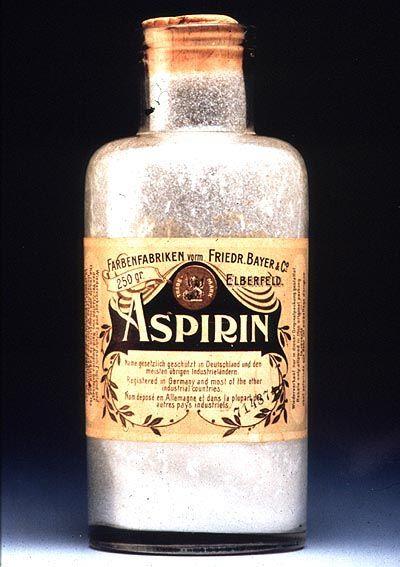 Eine Aspirinflasche von 1899