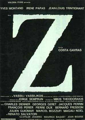 """Costa-Gavras-Film """"Z"""", Plakat: Meisterwerk des politischen Kinos"""