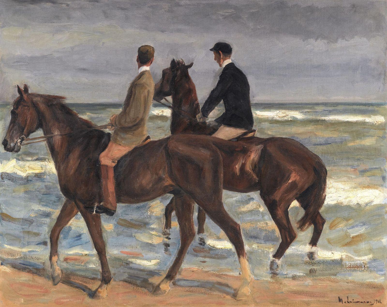 Gemälde «Zwei Reiter am Strand» von Max Liebermann versteigert