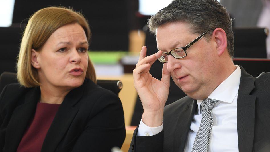 Nancy Faeser und Thorsten Schäfer-Gümbel