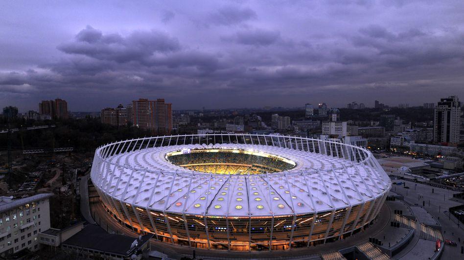 EM-Stadion in Kiew: Dynamo weicht nach Zypern aus.