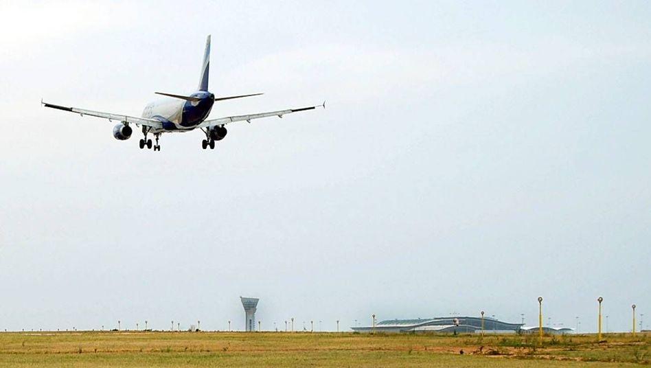 Flughafen Hyderabad in Indien