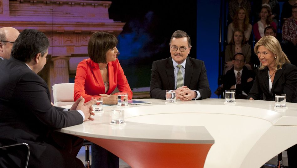 """Moderatorin Illner, Talk-Gäste: """"Bleiben Sie heiter"""""""