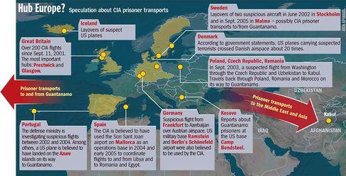Graphic: Suspected CIA terror flights in Europe
