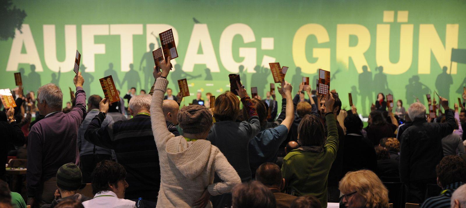 NICHT VERWENDEN Parteitag Grüne Freiburg 2010 / Abstimmung