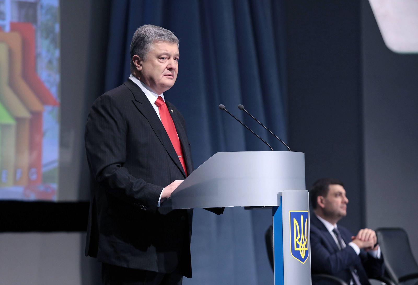 EINMALIGE VERWENDUNG Petro Poroshenko