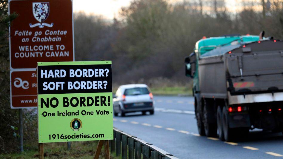 Grenze zwischen der Republik Irland und Nordirland