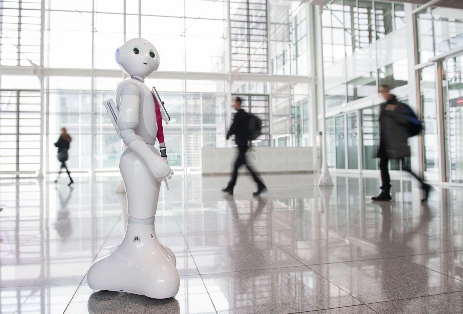 Flughafen-Roboter Josie Pepper