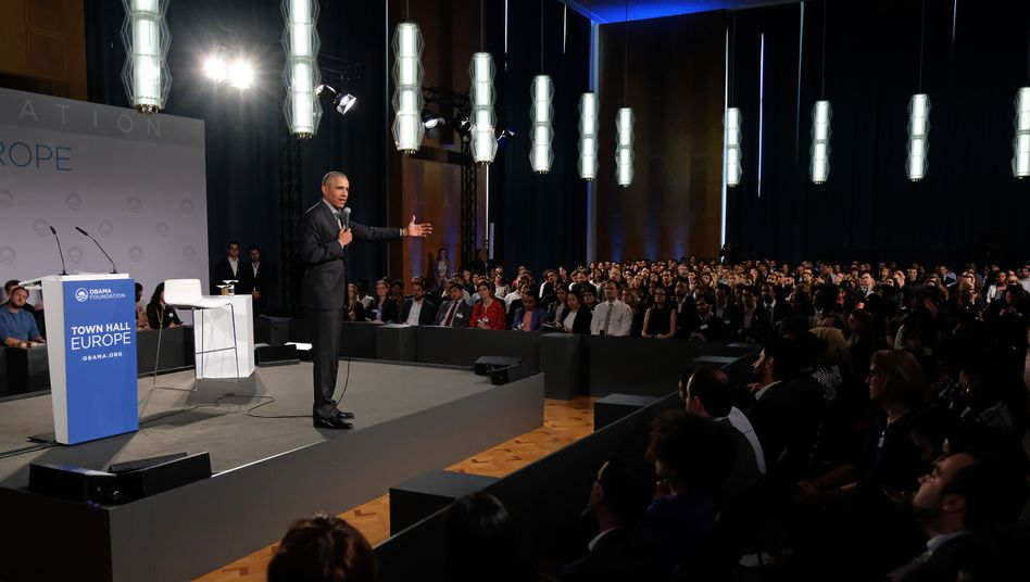 Barack Obama vor jungen Europäern in Berlin