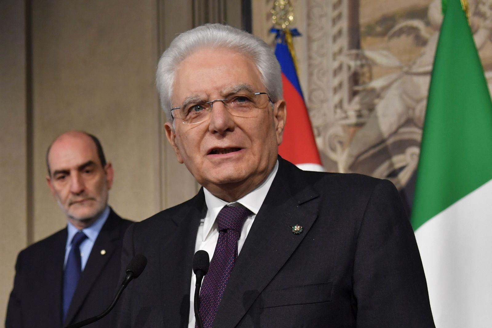 Sergio Mattarella Präsident Italien