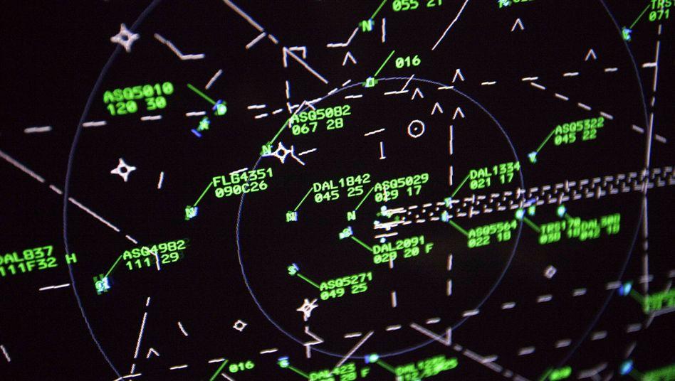 Radarschirm zur Flugüberwachung: Immer wieder Zwischenfälle in den USA