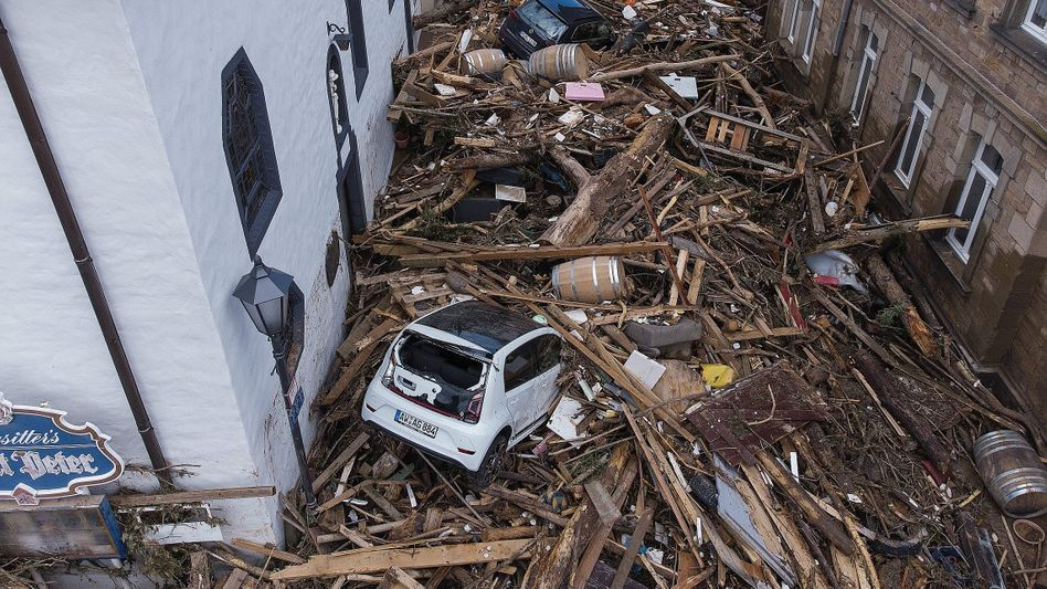 Devastation in Walporzheim: A force so strong it could only be a force of nature.