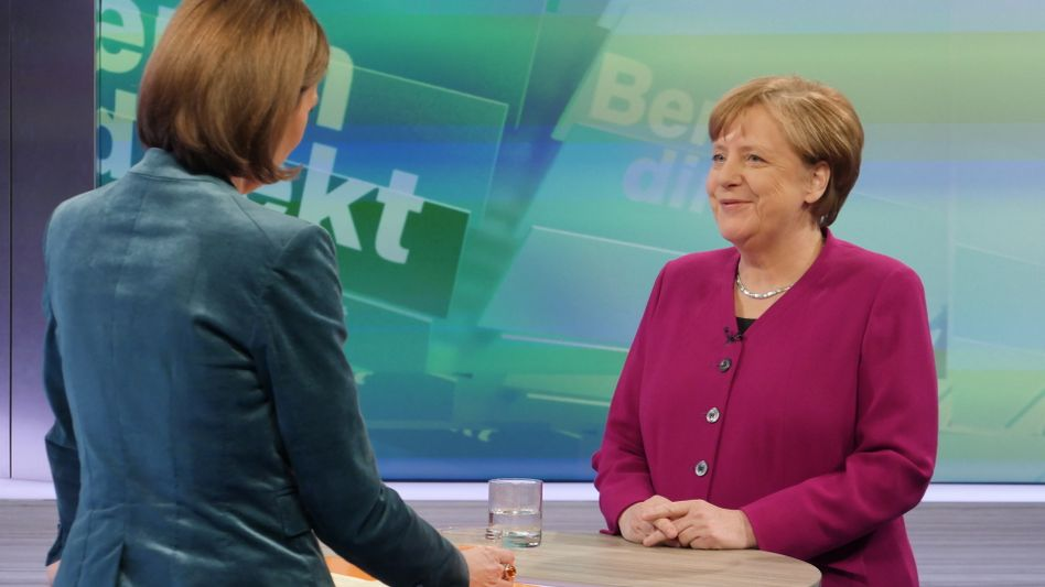 Merkel im ZDF