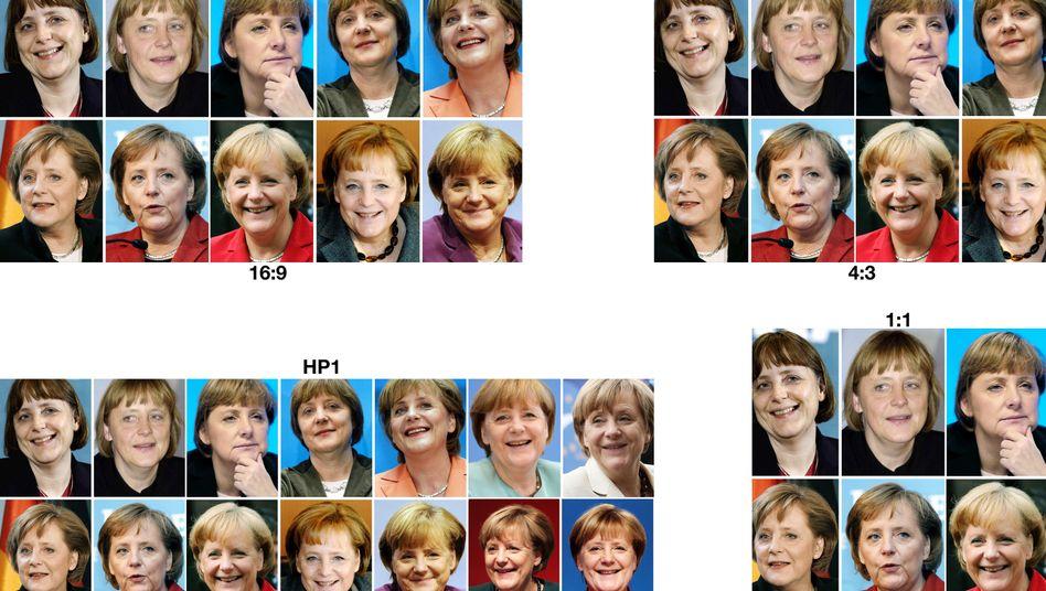 Angela Merkel in den Jahren zwischen 2000 und 2017