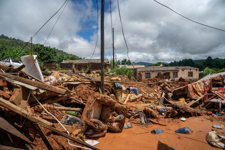 Trümmer in Chiminimani