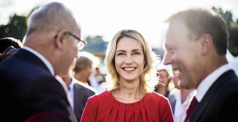 Familienministerin Schwesig, Fraktionsvorsitzende Kauder, Oppermann