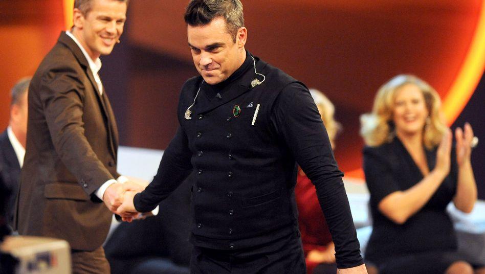 """Robbie Williams bei """"Wetten, dass..?"""": """"Ich bekomme einen richtigen Kick, wenn ich aufstehen darf"""""""