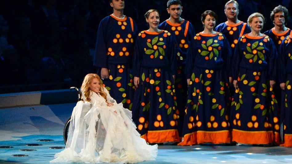 Julia Samoilowa bei den Olympischen Winterspielen 2014