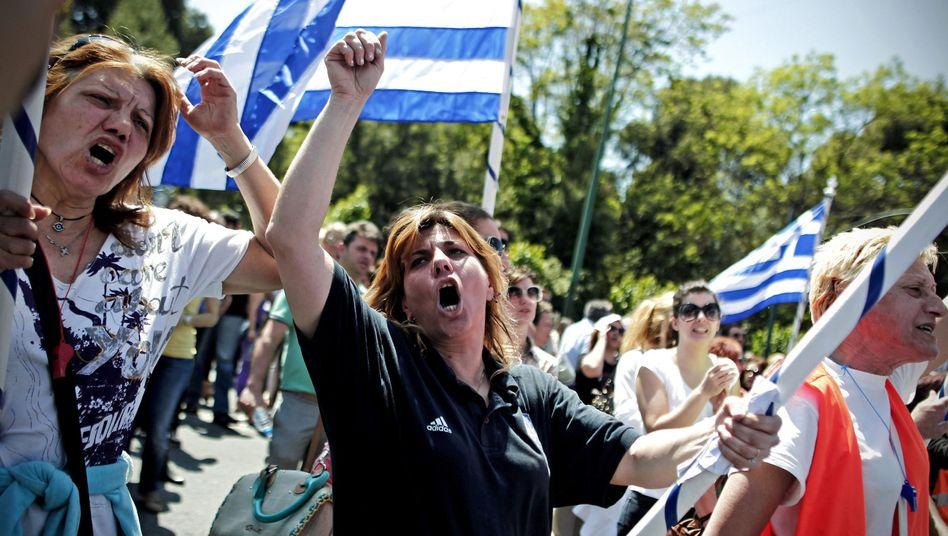"""Proteste in Athen: """"Bedeutende Misserfolge"""""""