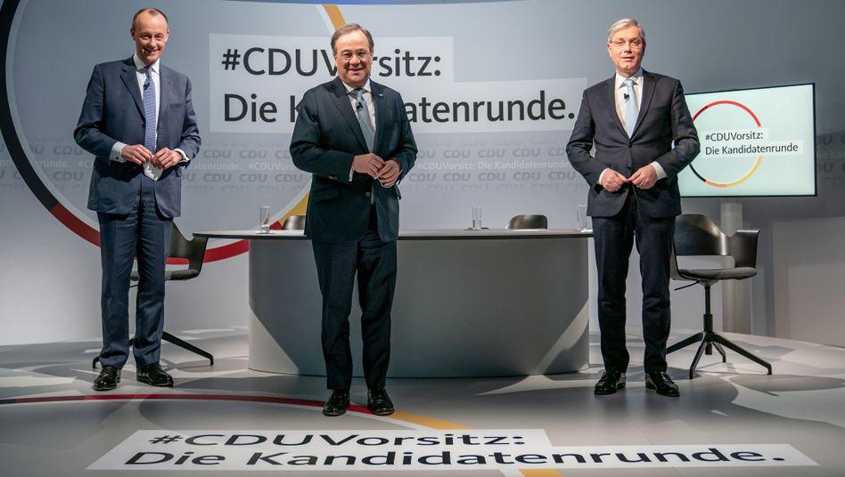 CDU-Vorsitzenden-Kandidaten Merz, Laschet, Röttgen