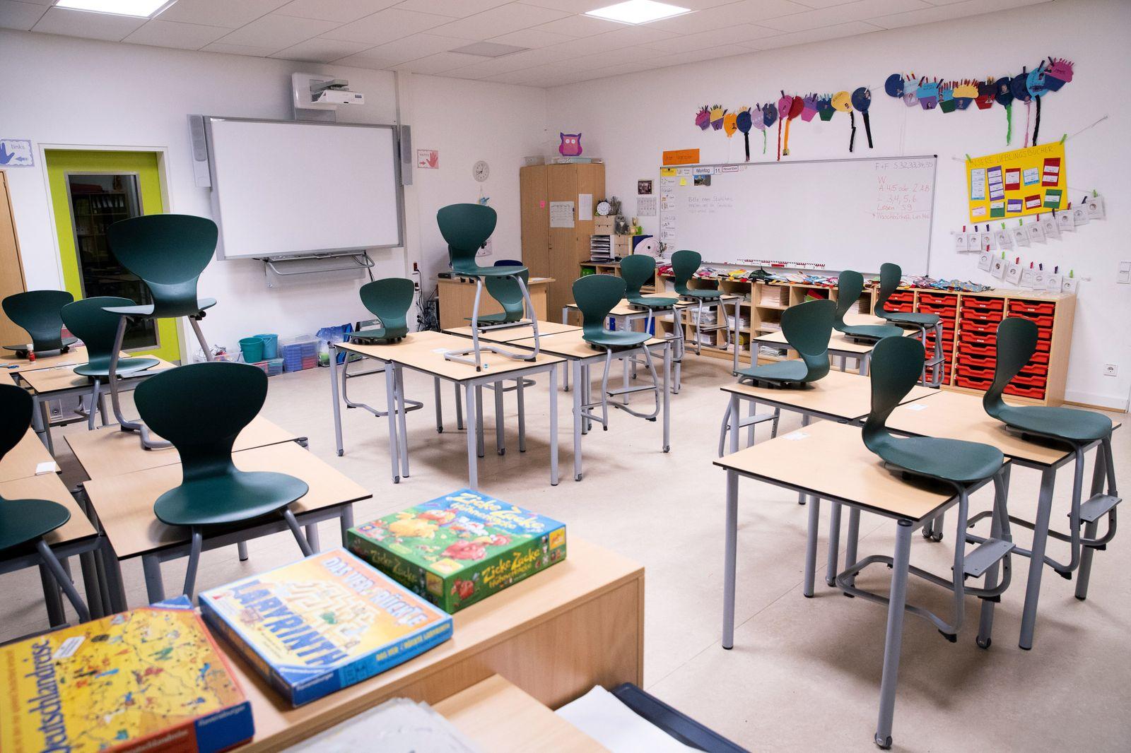 Klassenzimmer in Grundschule