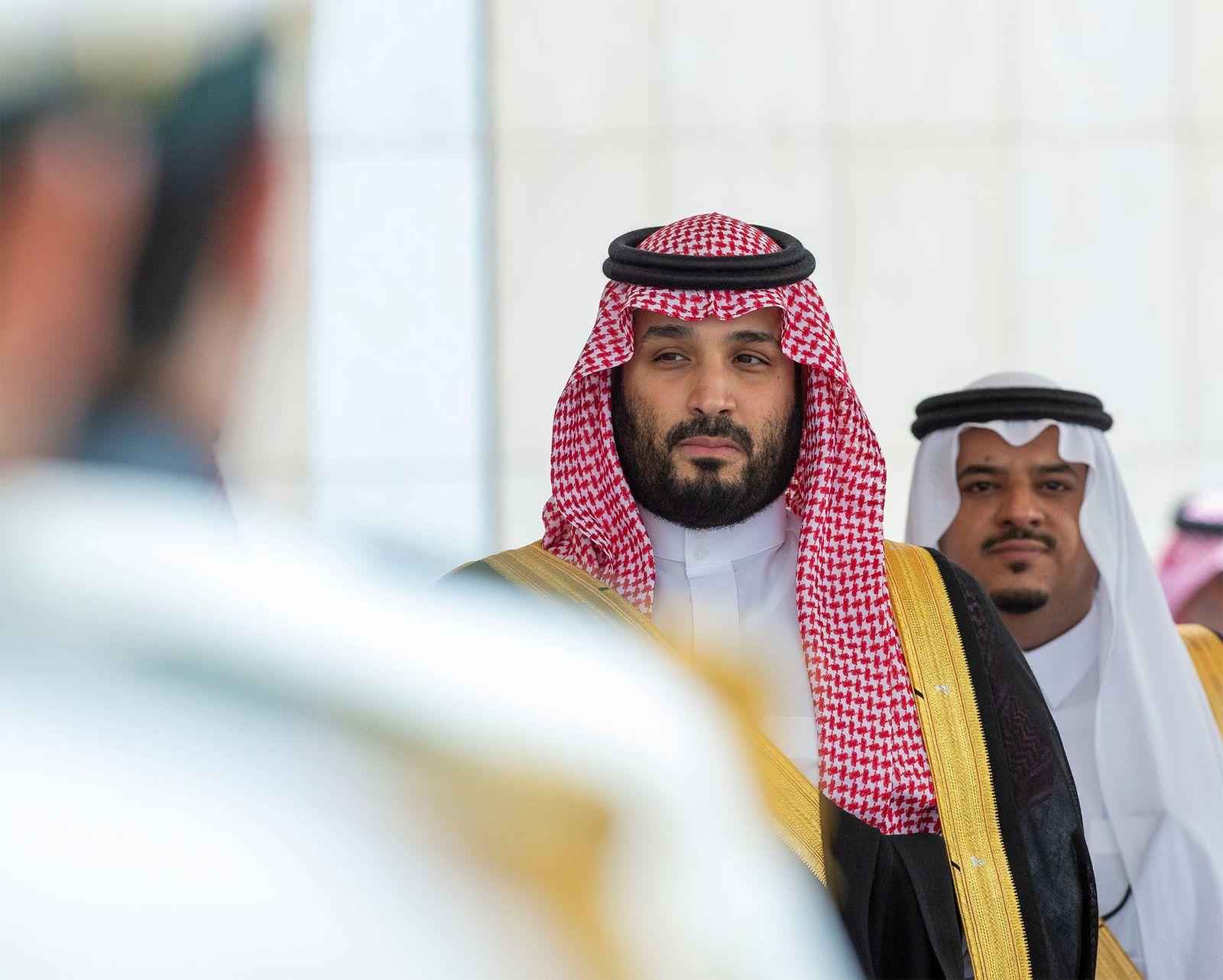 Saudi Crown Prince Mohammed bin Salman attends a session of the Shura Council in Riyadh
