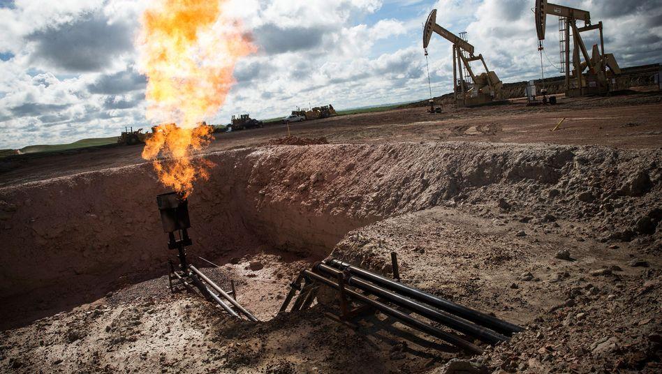 Ölfeld in North Dakota