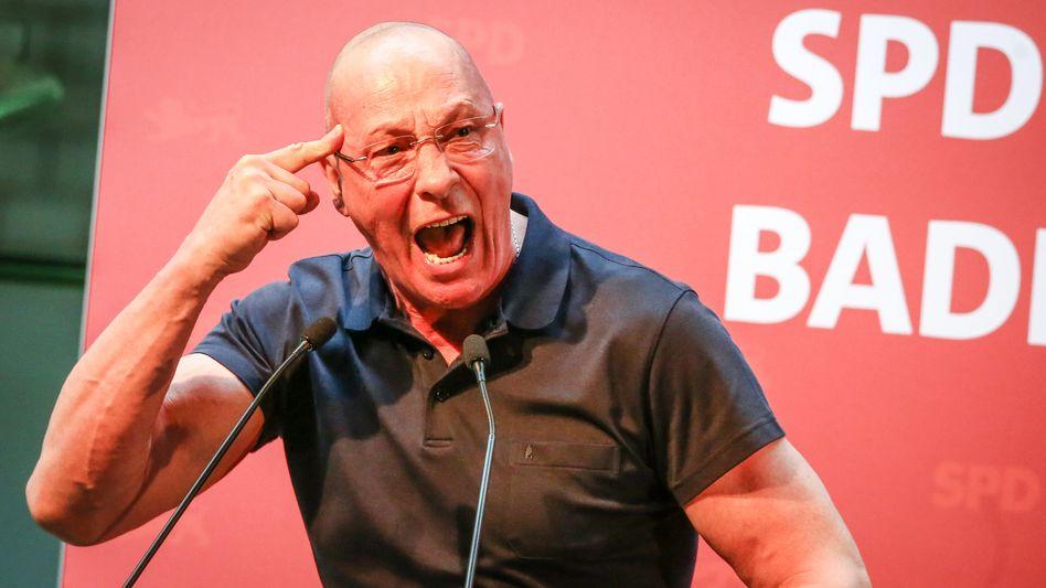 Uwe Hück beim Parteitag der SPD 2019