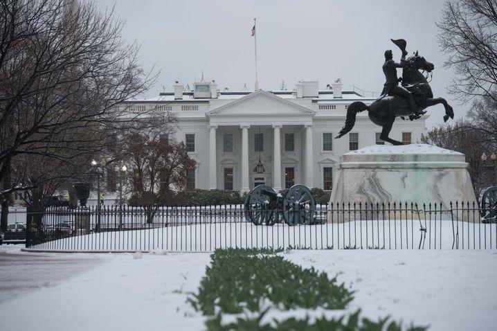 Winter in Washington: Weißes Haus im Schnee