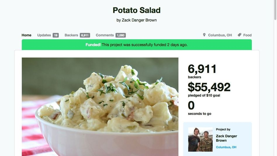 Kartoffelsalat-Kickstarter: Schnapsidee, Riesenerfolg