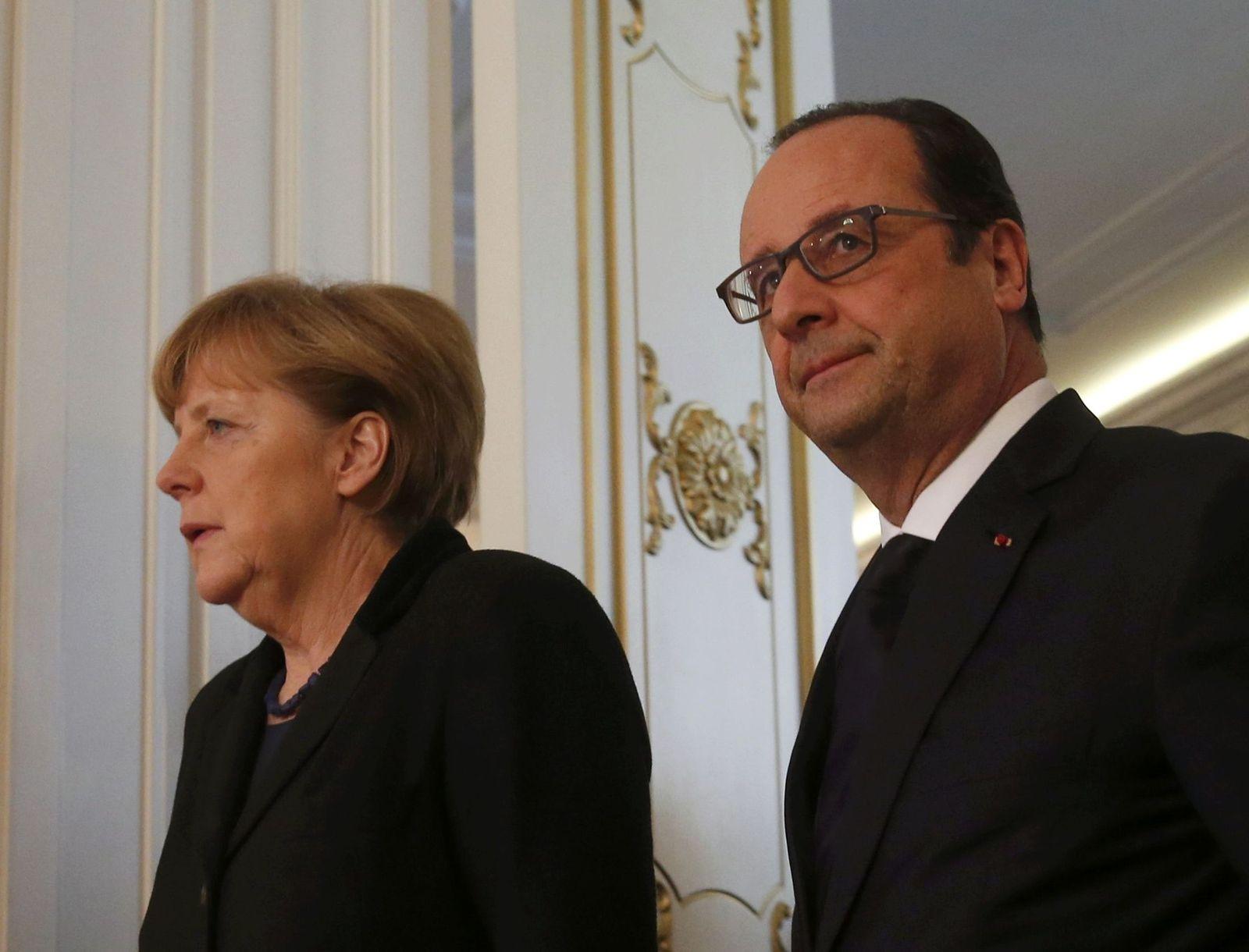Merkel und Hollande / Minsk