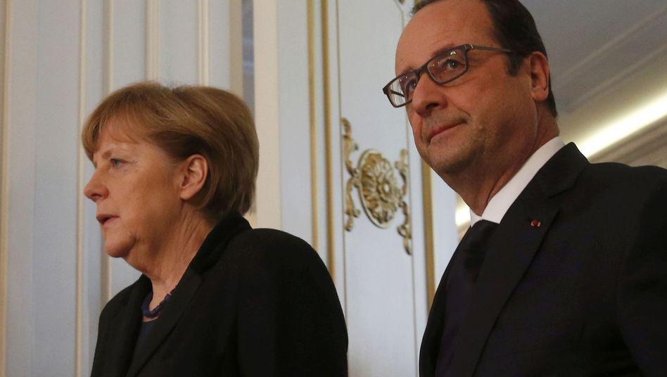 Kanzlerin Merkel, Frankreichs Präsident Hollande (in Minsk): Europas Mühen waren vergeblich