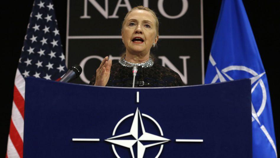 """Hillary Clinton (Archivbild vom 5. Dezember): """"Unschuldige Leben schützen"""""""