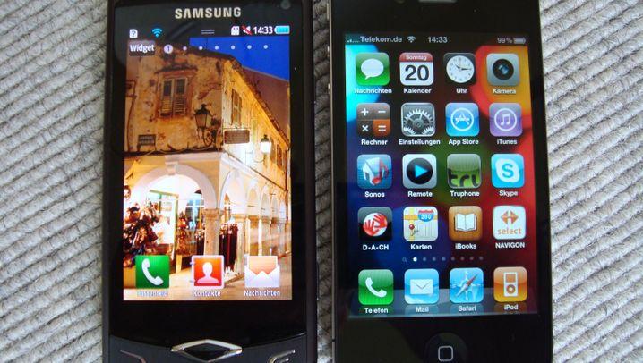iPhone 4 vs. Samsung Wave: Die Superbildschirme im Vergleich