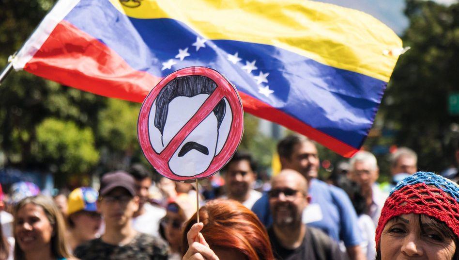 Anti-Regime-Demonstration in Caracas am 2. Februar: Der Revolutionsstaat ist von innen verfault