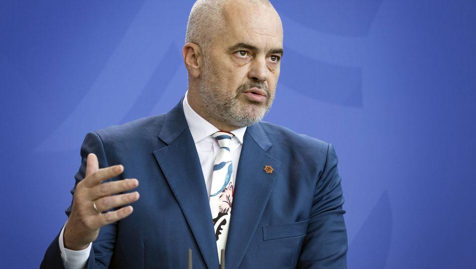 Edi Rama, Regierungschef des EU-Kandidatenlandes Albanien
