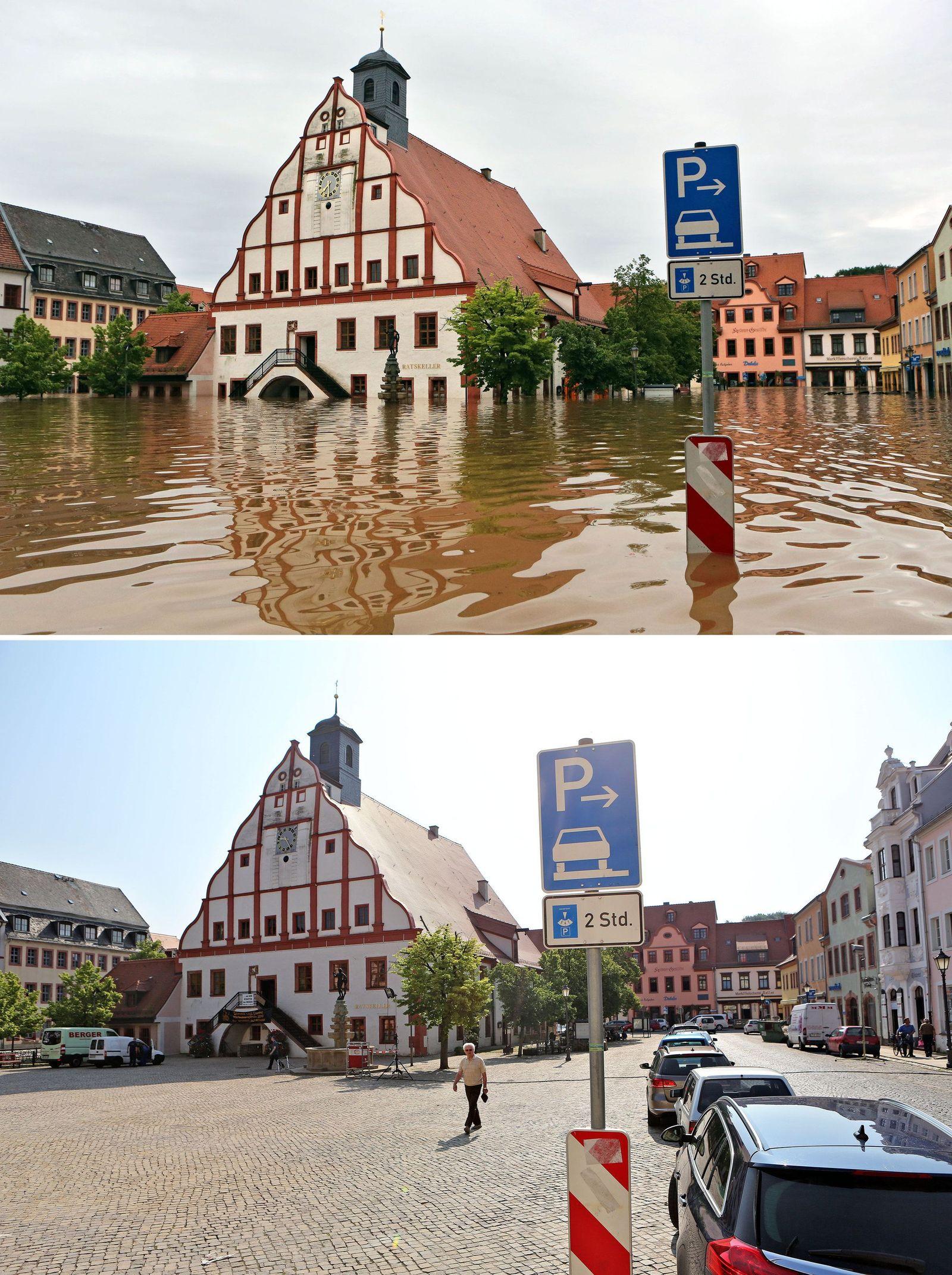 Vorher-Nachher Vergleich/ Hochwasser/Grimma NACHHER
