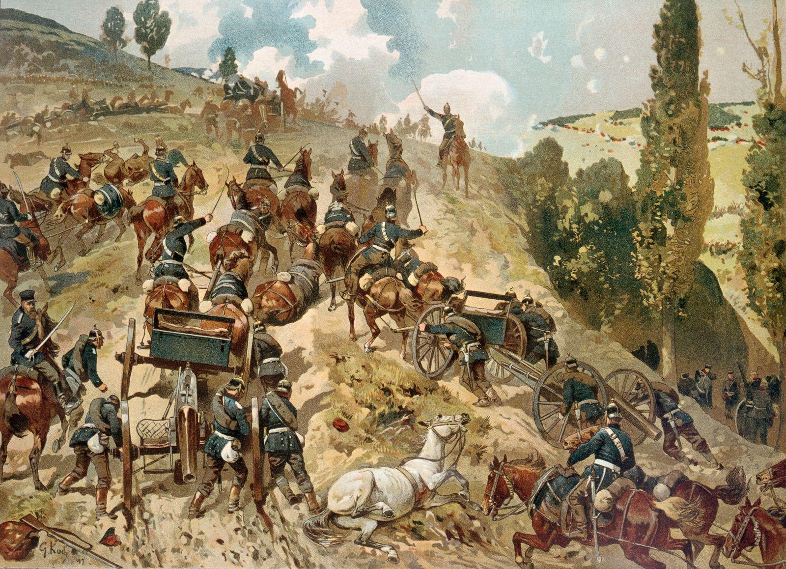 """Schlacht bei Spichern (Spicheren) / """"Die Erst¸rmung der Spicherer H?hen am 6. August 1870"""""""