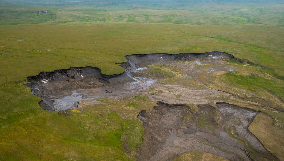 Tauender Permafrostboden